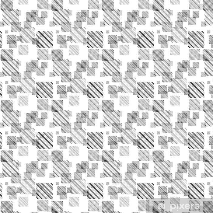 Tapeta na wymiar winylowa Streszczenie szwu z zestawem linii i kwadratów. - Zasoby graficzne