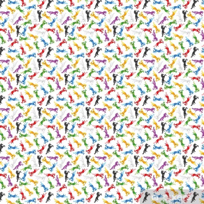 Zelfklevend behang, op maat gemaakt Illustratie naadloze patroon eenhoorn - Dieren