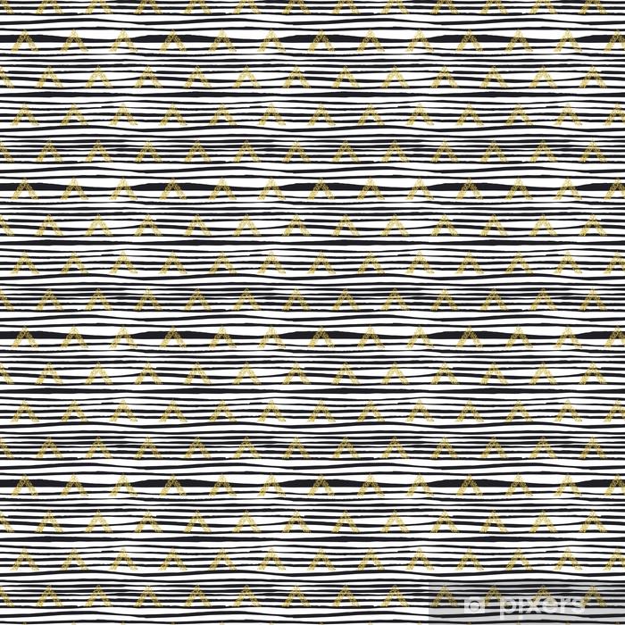 Tapeta na wymiar winylowa Złoty trójkąt geometryczny z linii tło. - Zasoby graficzne