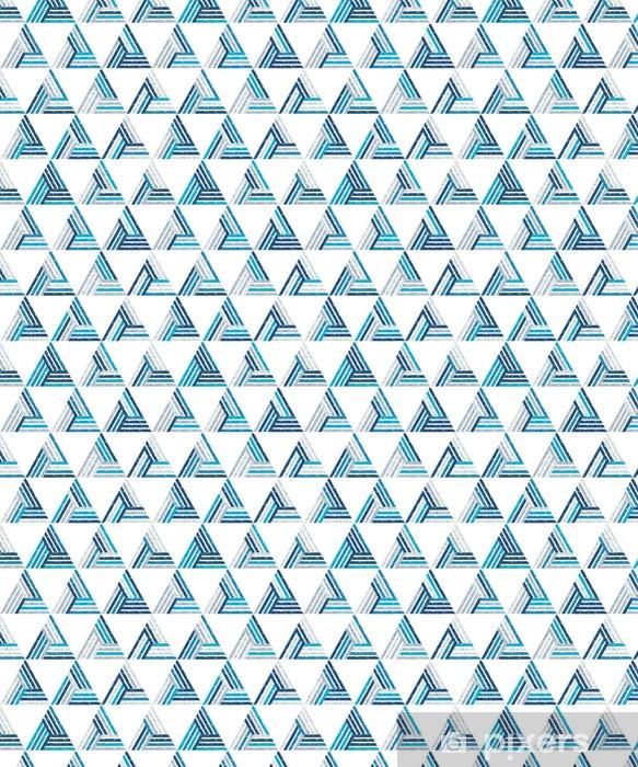 Selbstklebende Tapete nach Maß Zusammenfassung nahtlose Muster aus einer Vielzahl von Dreiecken und Streifen. Strukturierter Hintergrund. - Grafische Elemente