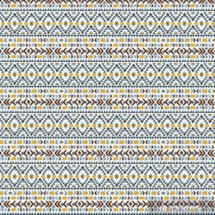 Akwarela etniczne wzór. ornament geometryczny.
