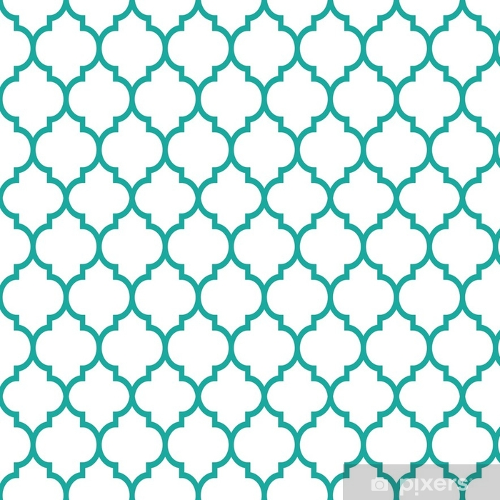 Tapete Marokkanische Fliesen Design Nahtlose Turkis Muster