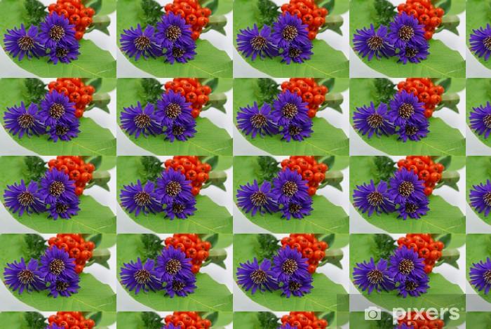 herbstastern Vinyl custom-made wallpaper - Seasons