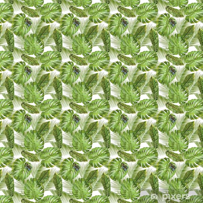 Vinyl behang, op maat gemaakt Tropisch bladerenpatroon - Bloemen en Planten
