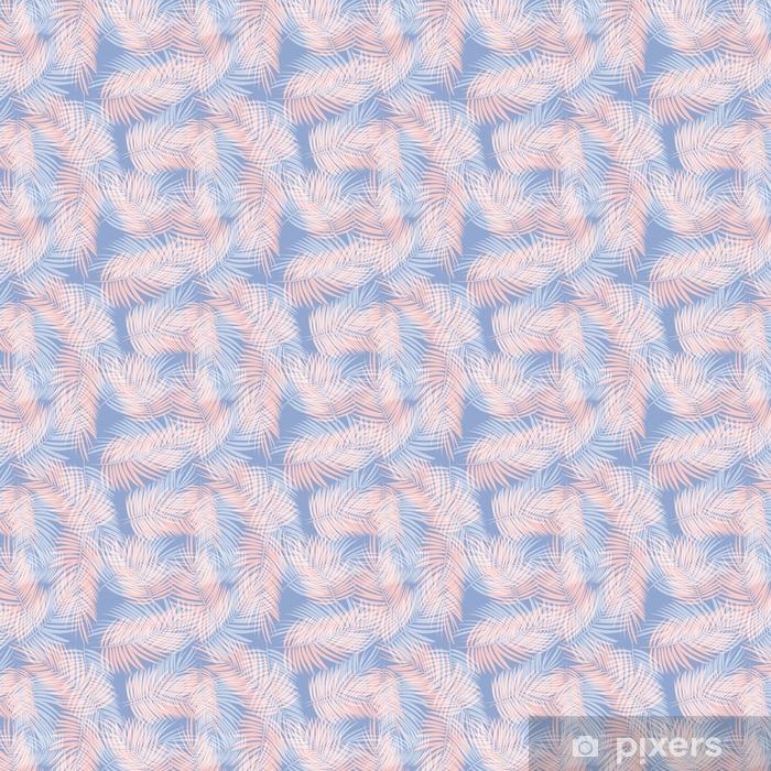 Tapeta na wymiar winylowa Liści palmowych wektor wzór tła ilustracji - Zasoby graficzne