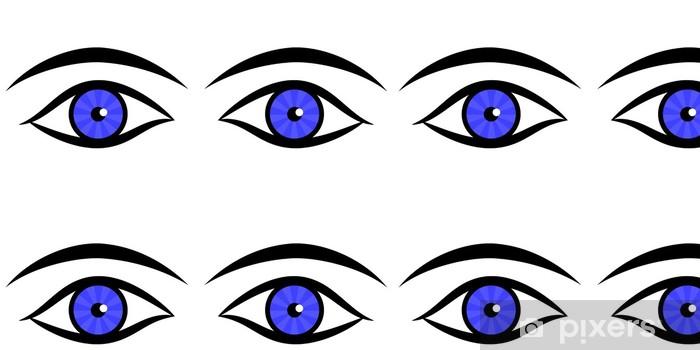 Vinylová Tapeta Vektor lidských očí a obočí - Životní styl, péče o tělo a krása
