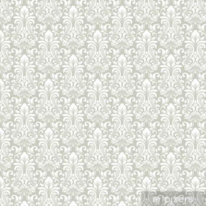 Papel pintado estándar a medida Vector Damasco sin patrón elemento. ornamento clásico antiguo damasco de lujo, textura transparente victorian real para fondos de pantalla, textil, embalaje. exquisita plantilla floral barroca. - Recursos gráficos