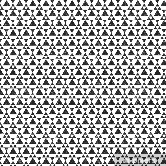 Svart geometrisk trekantbakgrunn. abstrakt sømløs mønster grunge teksturert.