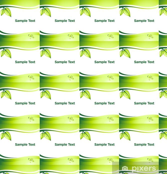Vinyltapete nach Maß Vektor grün abstrakten Hintergrund mit Platz für Ihren Text - Ökologie