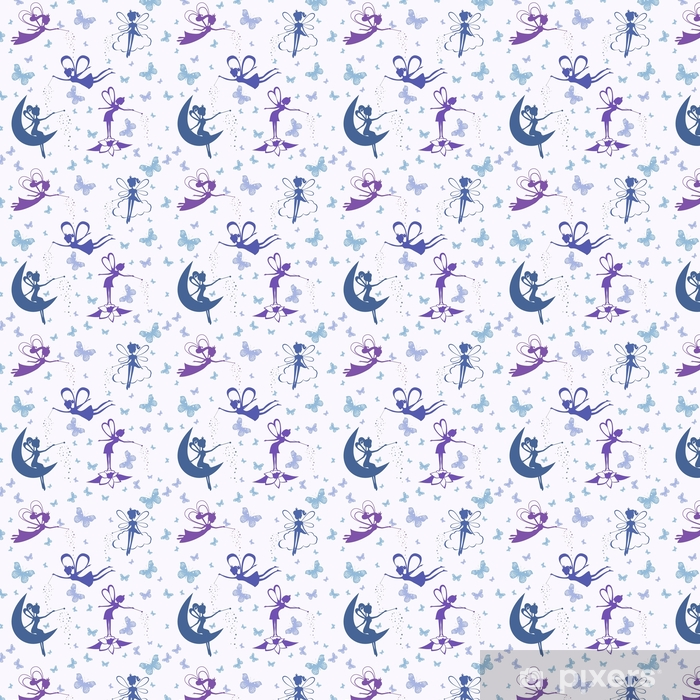 Pattern with fairy vector Vinyl custom-made wallpaper - Graphic Resources