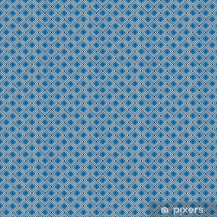 Seamless blue geometric pattern. Watercolor vector tribal texture. Vintage ethnic striped background. Vinyl custom-made wallpaper - Graphic Resources