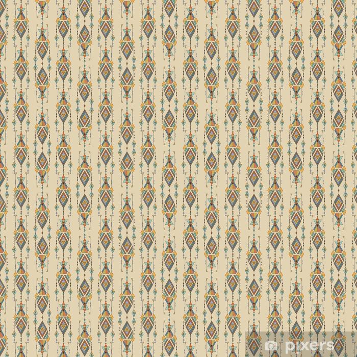 Tribal vintage ethnic seamless pattern. Aztec, mexican, navajo, african motif. Vinyl custom-made wallpaper - Graphic Resources
