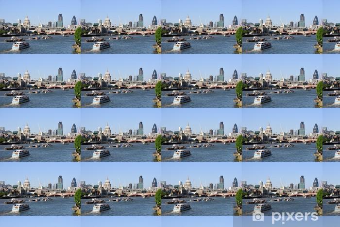 Tapeta na wymiar winylowa Zobacz nad Tamizą, Londyn, Anglia, Wielka Brytania w St Pauls Cathedral - Miasta europejskie