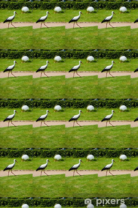 A stork in the park Vinyl custom-made wallpaper - Birds