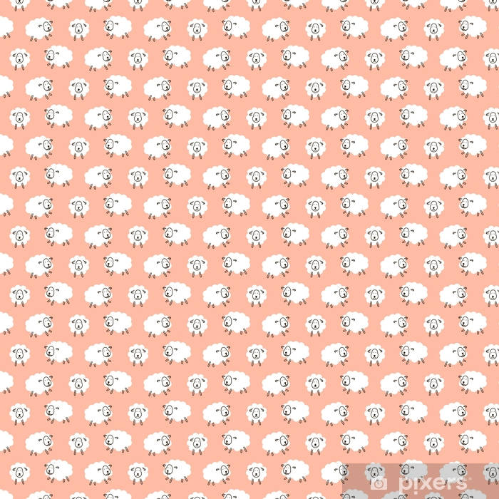 Behang Baby Roze.Behang Baby Schapen Meisjesachtig Schattig Naadloze Vector Patroon