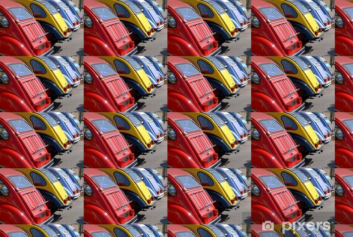 Papier peint vinyle sur mesure Coffres de voitures de collection - Sur la route