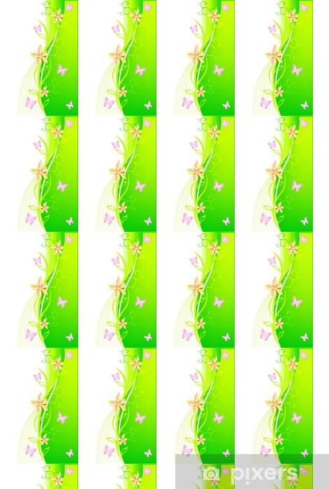 Papier peint vinyle sur mesure Été vert floral background - Saisons