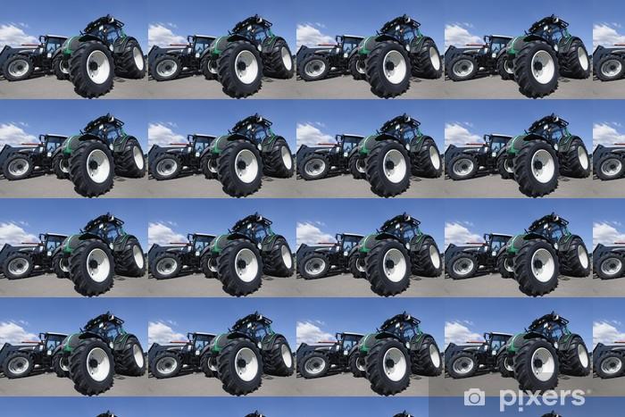 Vinyl behang, op maat gemaakt Giant landbouw tractoren - Onderweg