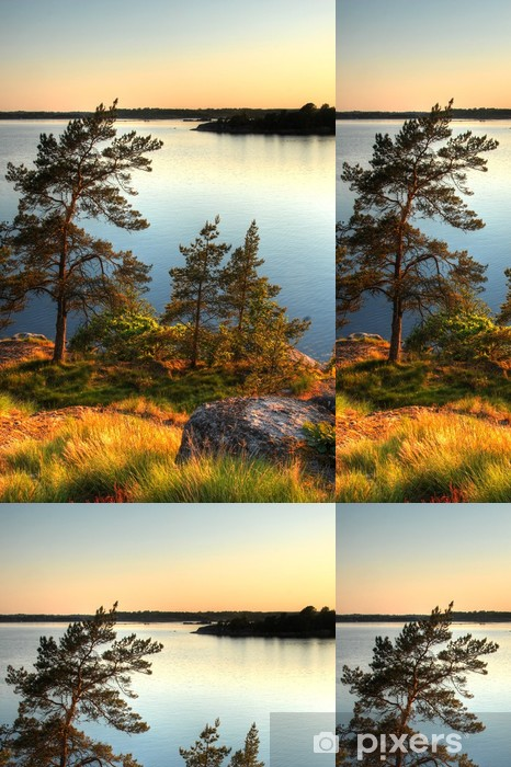 Vinylová Tapeta Krajina ve Švédsku - Jiné