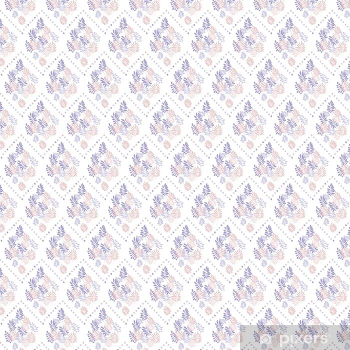 Vinyl behang, op maat gemaakt Tropisch teder beeld op witte achtergrond voor bedlinnen. naadloze bloemmotief met exotische bladeren voor inpakpapier, stof, doek. vectorillustratie - Grafische Bronnen