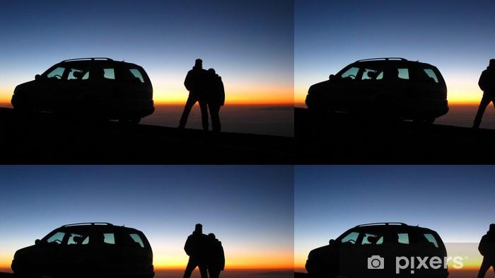 Vinylová Tapeta Sonnenaufgang auf Teneriffa - Nebe