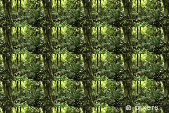 Tropical Forest Wallpaper Vinyl Custom Made