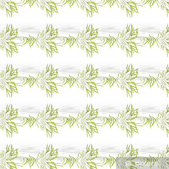 Papier peint vinyle sur mesure Herbe Feuille de Bambou - Paix