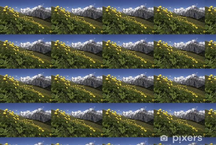 Tapeta na wymiar winylowa Wiosna w górach, Eiger, Moench i Jungfrau - Europa