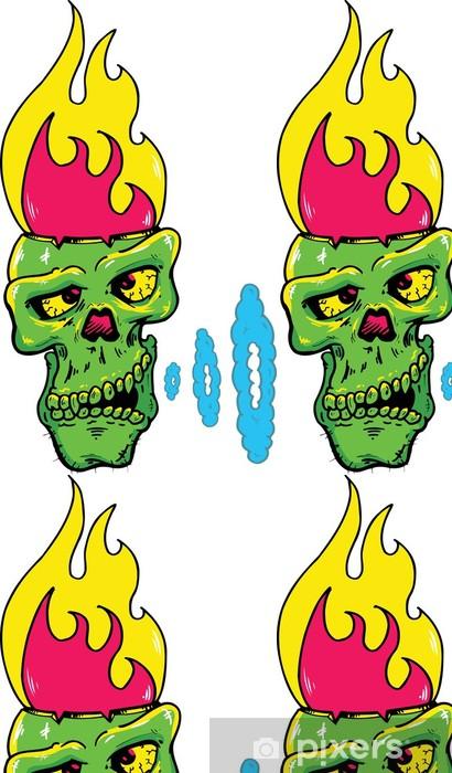 Vinylová Tapeta Lebka s planoucí hlavu vektorové ilustrace - Části těla