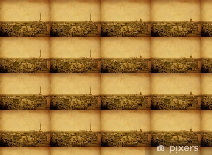 Papier peint vinyle sur mesure Tour Eiffel à l'ancienne - Monuments