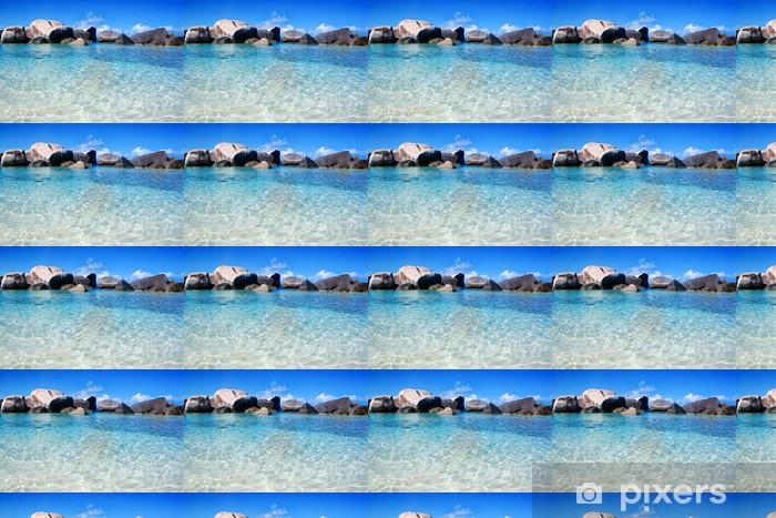 Papier peint vinyle sur mesure Virgin Gorda Lagoon Beach - Amérique