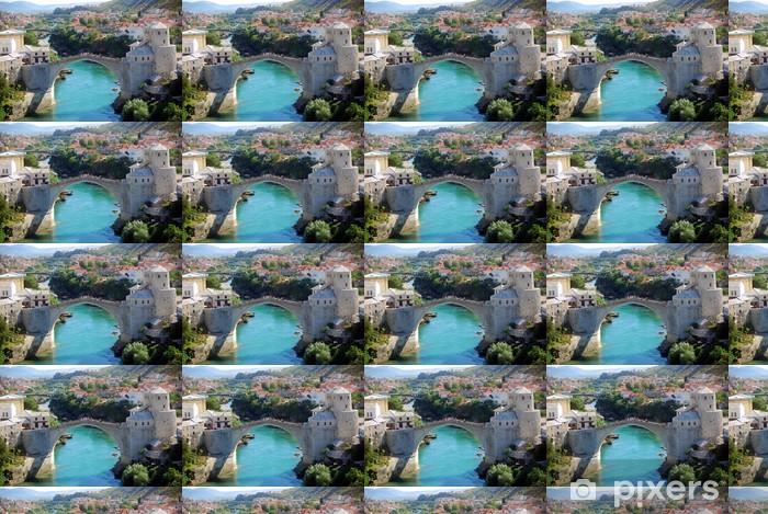 Papier peint vinyle sur mesure Le Vieux Pont de Mostar, en Bosnie-Herzégovine - Europe