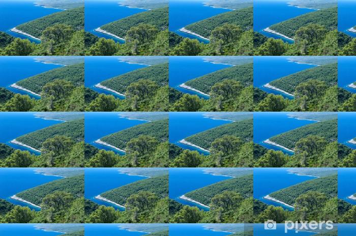 Papier peint vinyle sur mesure Pine coast - Eau