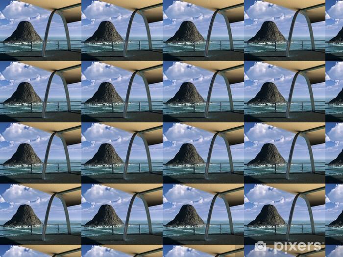 Papier peint vinyle sur mesure Visualisation sur le roc - Îles