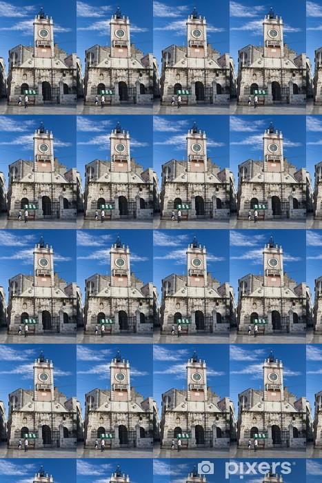 Papier peint vinyle sur mesure Stadtwache Zadar mit Glockenturm - Europe