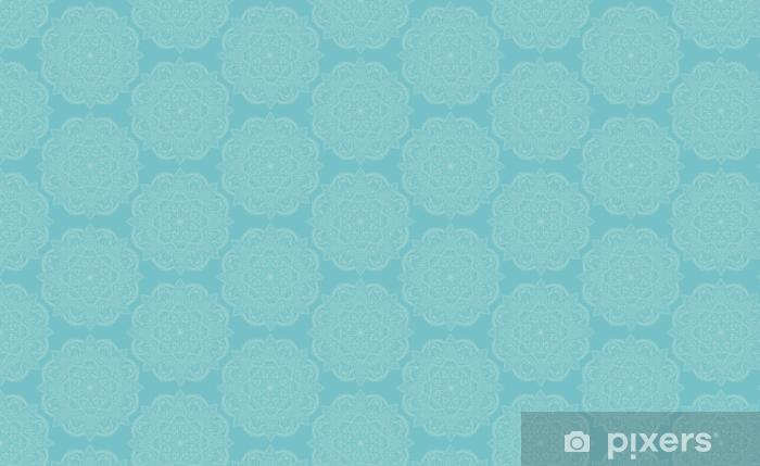 Elegant Light Blue Mandala Seamless Pattern Design Perfect For Backgrounds And Wallpaper Designs Vector Illustration Wallpaper Vinyl Custom Made