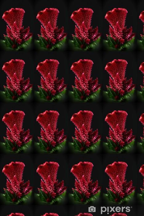 Papier peint vinyle sur mesure RED CELOSIA - Fleurs