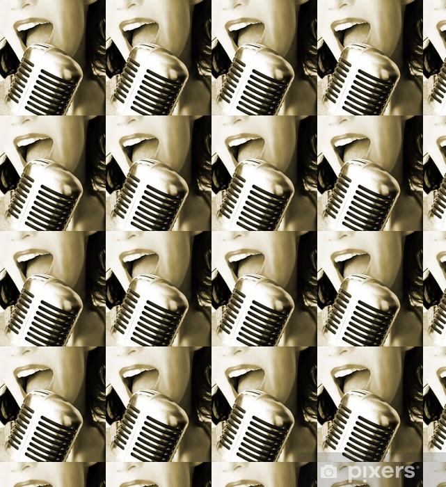 Vinyl behang, op maat gemaakt Retro zanger - Thema's