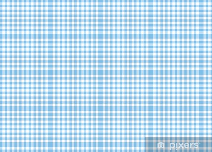 Light Blue Gingham Pattern Background Wallpaper Vinyl Custom Made