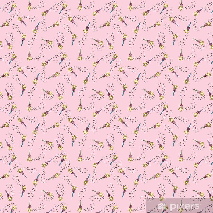 Magiczna różdżka wzór z magii błyszczy różowy pastelowe tło
