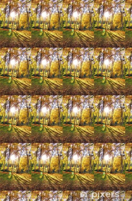 Papier peint vinyle sur mesure Soleil - Forêt