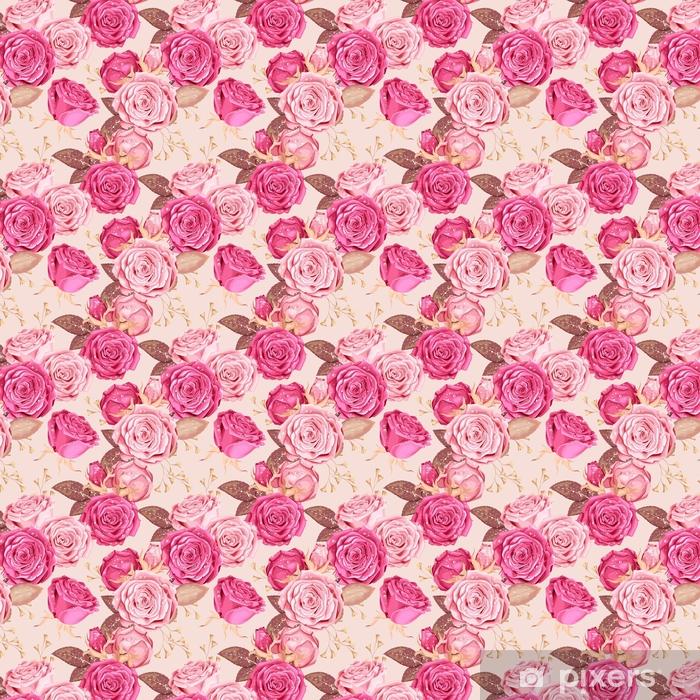 Beautiful roses seamless Vinyl custom-made wallpaper - Plants and Flowers