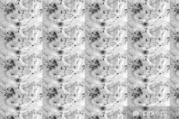 Vinyltapete nach Maß Schwarz-Weiß-Hintergrund mit Tinte auf Milch Textur - Grafische Ressourcen