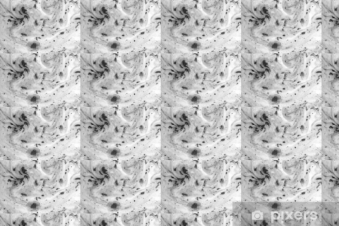Black and white background with ink on milk texture Vinyl custom-made wallpaper - Graphic Resources