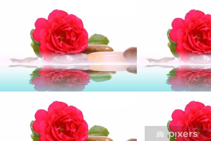 Vinyltapete Wasser Rose - Beauty und Körperpflege
