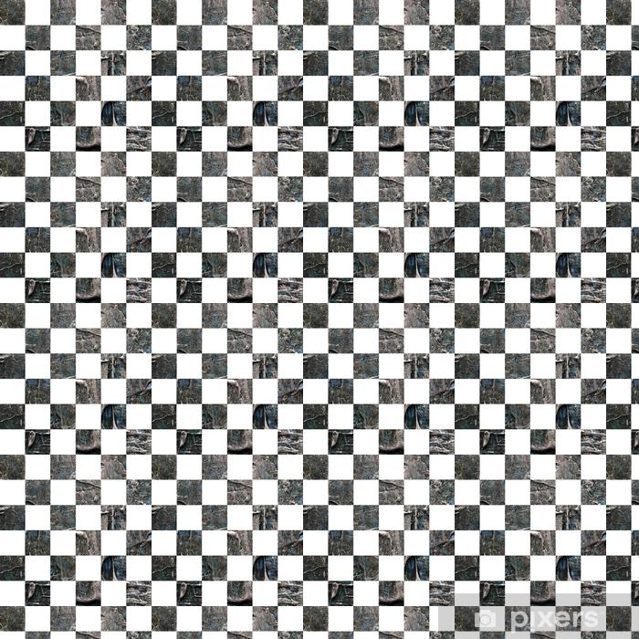 Papier peint vinyle sur mesure Grunge сhess texturé abstrait damier sans soudure - Ressources graphiques