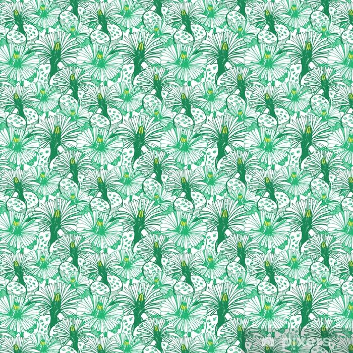 Tapeta na wymiar winylowa Botaniczne zielone tło. - Rośliny i kwiaty
