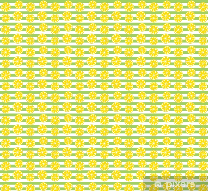 Seamless Lemon Print With Green Stripes Wallpaper Pixers We