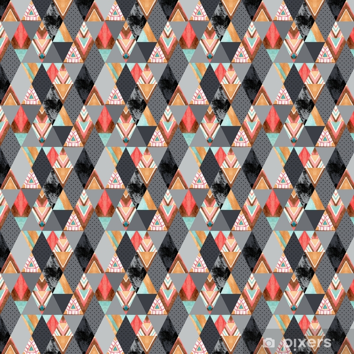 Rhombus And Triangle Seamless Pattern Wallpaper Pixers We Live To Change