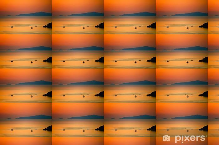 Tapeta na wymiar winylowa Żaglowce w greckiej zachodzie słońca - Transport wodny